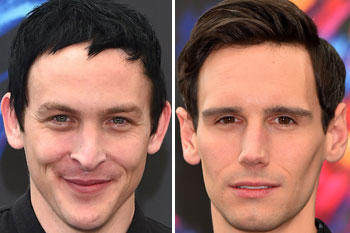Robin Lord Taylor or 'The Penguin' and Cory Michael Smith, who plays The Riddler in the Gotham series (2016)