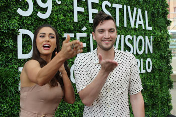 Lindsey Morgan et Richard Harmon