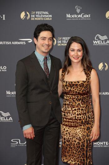 Ben Feldman et son épouse Michelle Mulitz à la 58ème édition du Festival de Télévision de Monte-Carlo